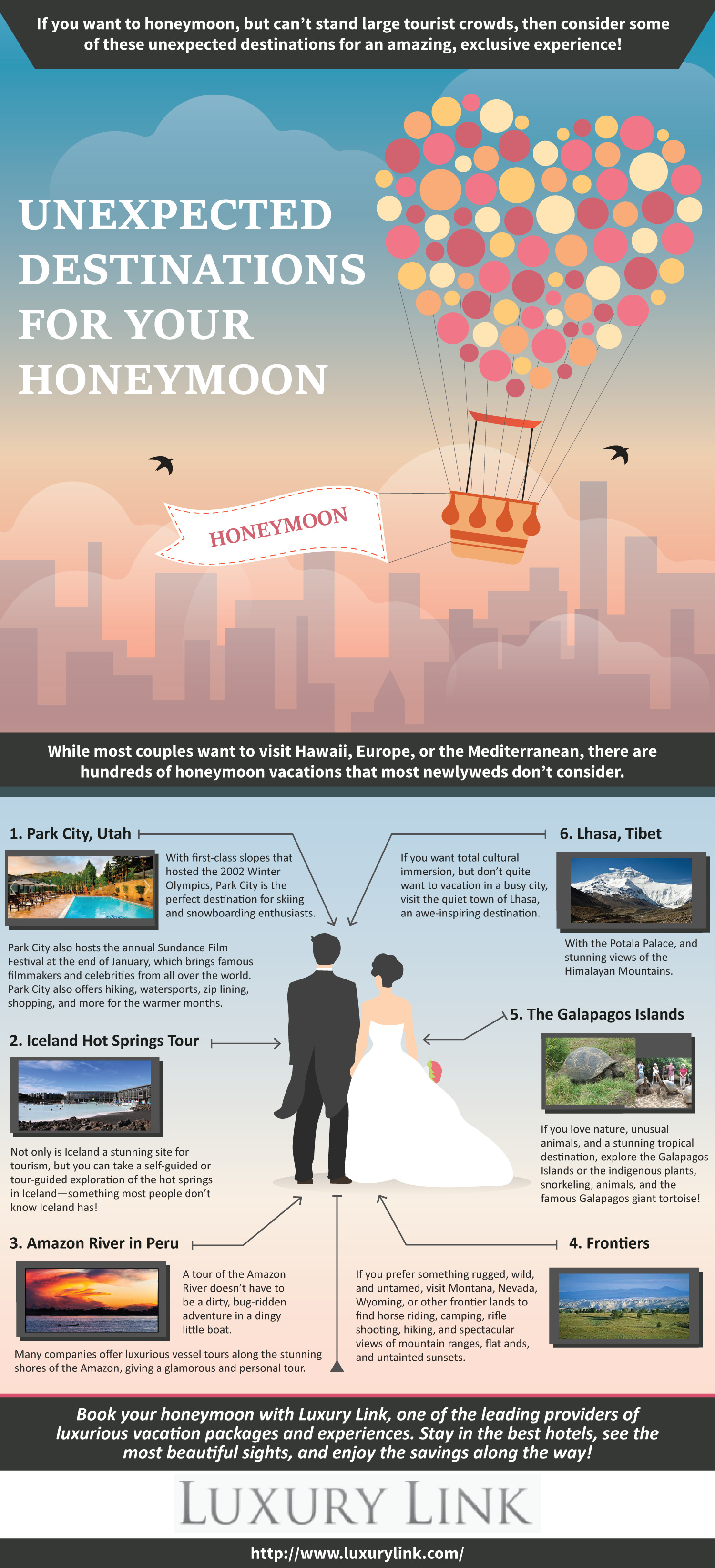 Unexpected destinations for your honeymoon luxury link